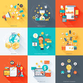 Business theme minimal stylish flat style colorful vector d