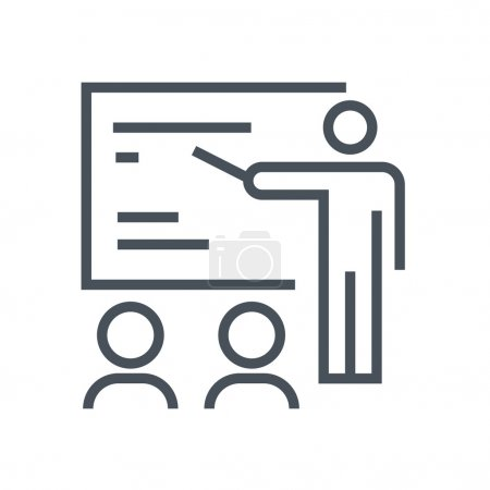 Illustration for Training seminar icon suitable for info graphics, websites and print media. Colorful vector, flat icon, clip art. - Royalty Free Image