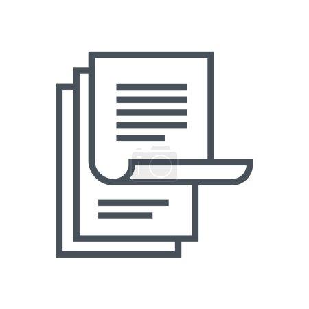 Illustration pour Icône de la paperasserie adapté pour les graphiques d'information, les sites Web et les médias imprimés et interfaces. Icône vectorielle ligne . - image libre de droit