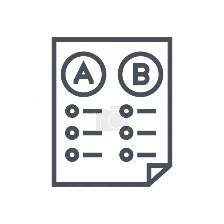 Illustration for Split test icon suitable for info graphics, websites and print media and  interfaces. Line vector icon. - Royalty Free Image