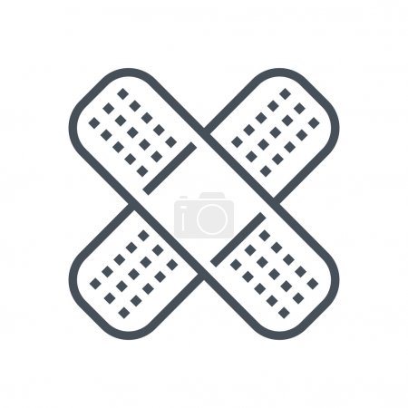 Illustration for Bandage, plaster icon suitable for info graphics, websites and print media and  interfaces. Line vector icon. - Royalty Free Image