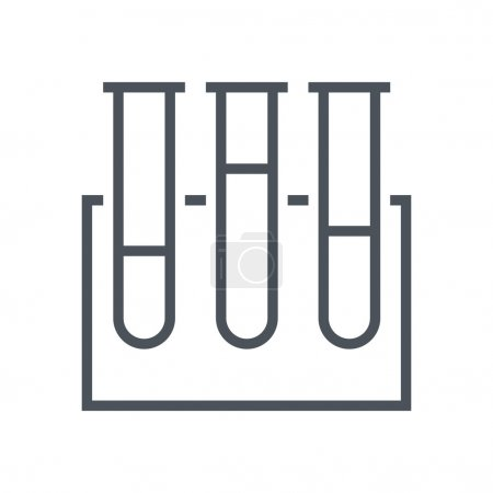 Illustration for Test tube icon suitable for info graphics, websites and print media and  interfaces. Line vector icon. - Royalty Free Image