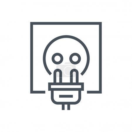 Illustration for Electric plug icon suitable for info graphics, websites and print media and  interfaces. Line vector icon. - Royalty Free Image
