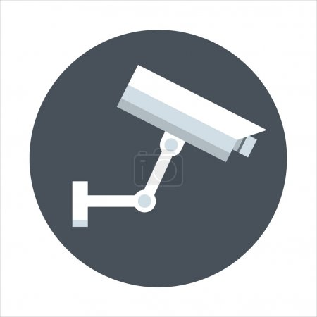 Surveillance camera theme, flat style, colorful, vector icon for