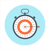 Time management time is money theme flat style colorful vector icon for info graphics websites mobile and print media