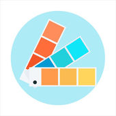Color swatch theme flat style colorful vector icon for info graphics websites mobile and print media