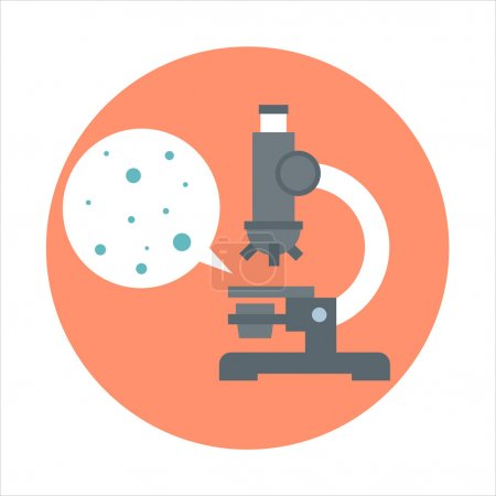 Illustration for Biology theme, flat style, colorful, vector icon for info graphics, websites, mobile and print media. - Royalty Free Image