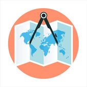 Geography theme flat style colorful vector icon