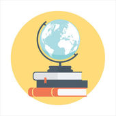 Education explore theme flat style colorful vector icon
