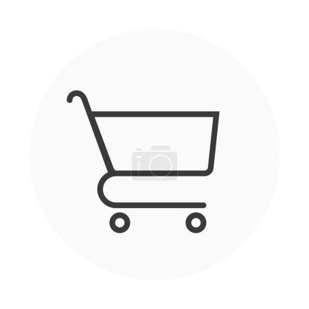 Illustration pour Icône de panier adapté pour les graphiques d'information, les sites Web et les médias imprimés. Vecteur coloré, icône plate, clip art . - image libre de droit