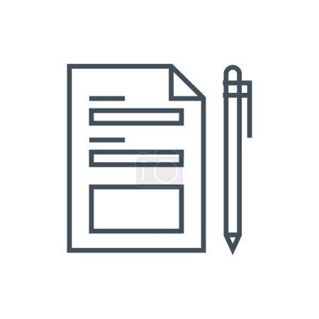 Illustration pour Icône de formulaire de contact adapté pour les graphiques d'information, les sites Web et les médias imprimés et interfaces. Icône vectorielle ligne . - image libre de droit