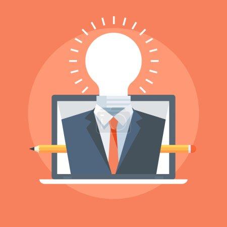 Illustration pour Professional Service style plat, coloré, icône vectorielle pour les graphiques d'information, les sites Web, les médias mobiles et imprimés . - image libre de droit