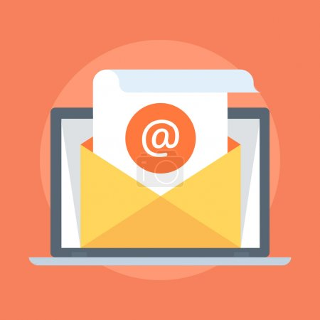 E-mail Marketing flat style, colorful, vector icon