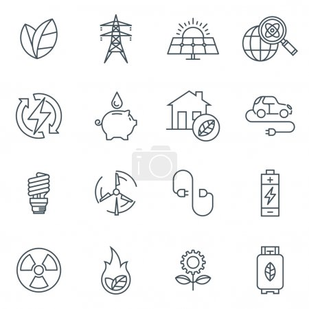 Green energy icon set suitable for info graphics, ...