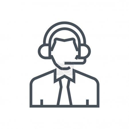 Male customer service icon