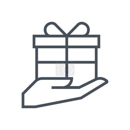 Courtesy, gift box icon