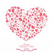 Happy Valentine's Day Love symbol Vector icon