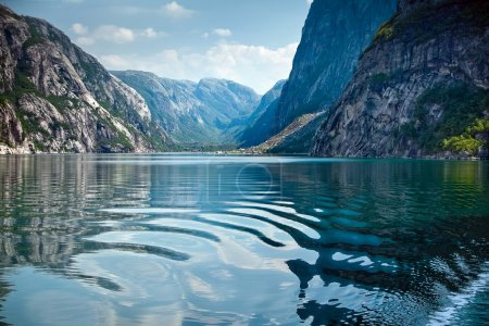 Natural landscape at geirangerfjord in norway