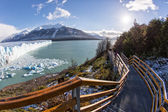 Outlook stairs in Perito Moreno Park