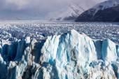 Blue ice in Perito Moreno Glacier