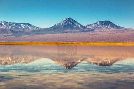 Photo pour Beau scénario dans le désert d'Atacama, nord du Chili, Amérique du Sud . - image libre de droit