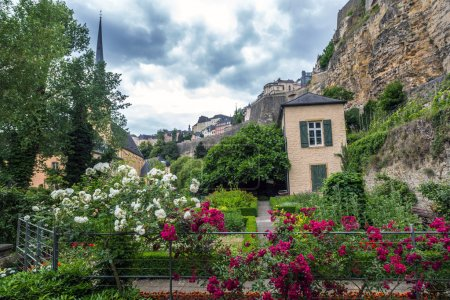 Luxembourg city in cloud day