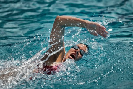 Photo for Female Swimmer in action. - Royalty Free Image