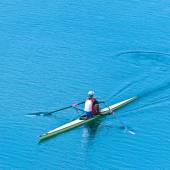 Single scull sport rowing