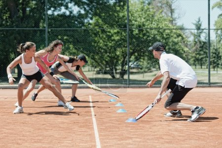 Touching markers on cardio tennis