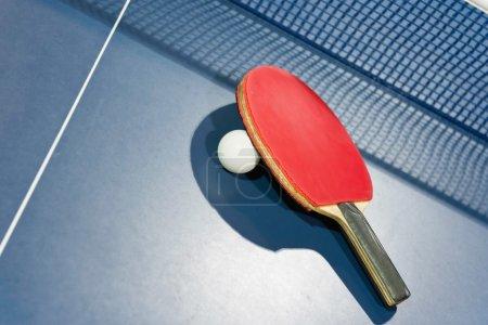 Ping pong ball and racket