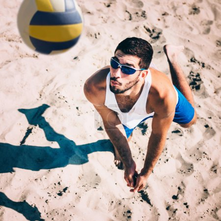 Beach volleyball Player in action