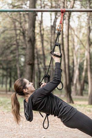 Female trx suspension training