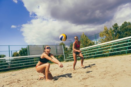 volleyball girls in action