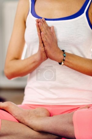 lotus position in yoga
