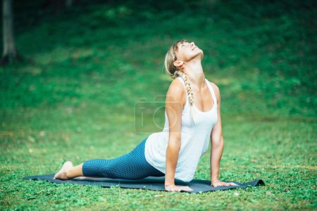 Girl doing Bhujangasana Position