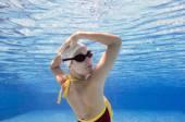 Synchronizované plavkyně zpět