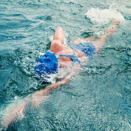 female marathon swimming athlete