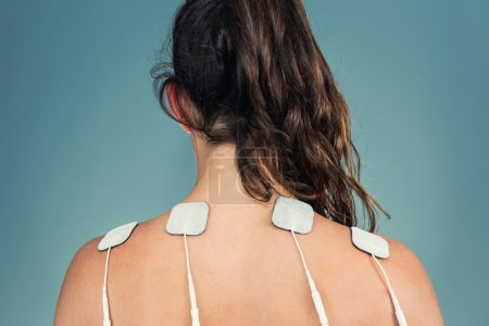 patient back with Electrodes