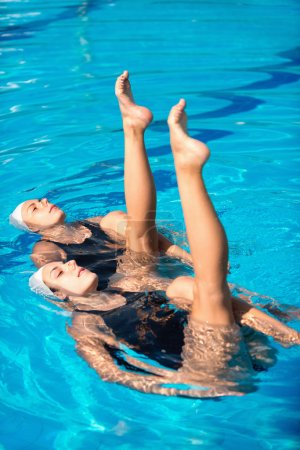 Synchronized swimming duet