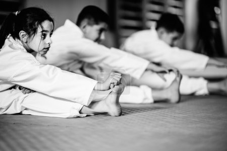 Photo for Children practice at Martial Arts Training Class - Royalty Free Image