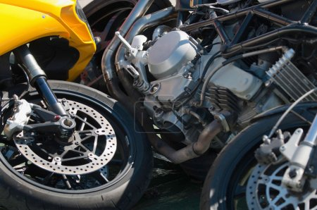 Two motorbikes in accident