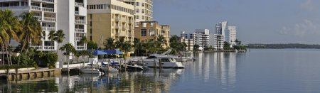 Residential district on waterfront in Florida