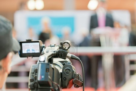 Television camera recording.
