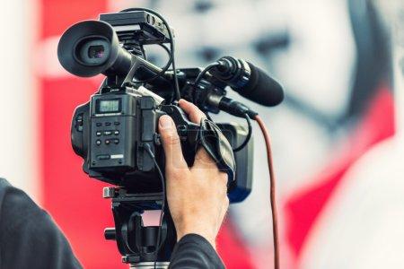 camera recording an event