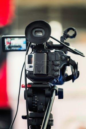 camera on press conference