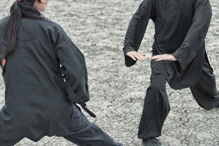 Women practicing Qigong exercise