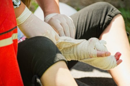 First aid injury treatment