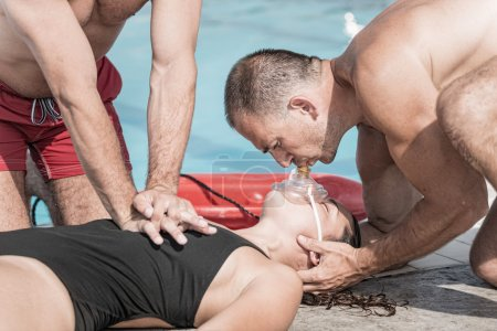CPR training for lifeguards