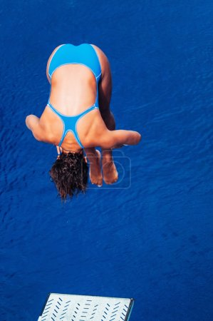 diver sportswoman at competition