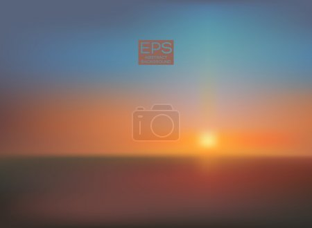 Illustration for Vector art. illustration of soft colored abstract background. Web and mobile interface template. Travel corporate website design. Minimalistic backdrop.Editable. Blurred. Landscape. Light rays - Royalty Free Image